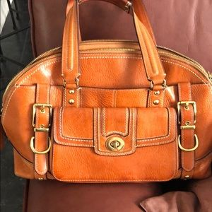 Coach natural leather large tote